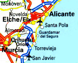 Elche map location