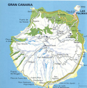 Map Of Spain Gran Canaria.Map Of Grand Canaria Island Spain Maps Of Spain