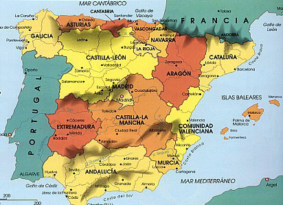 Geography of spain ,regions of ...