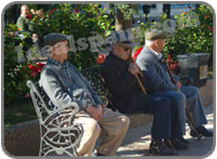 Old men in Spain
